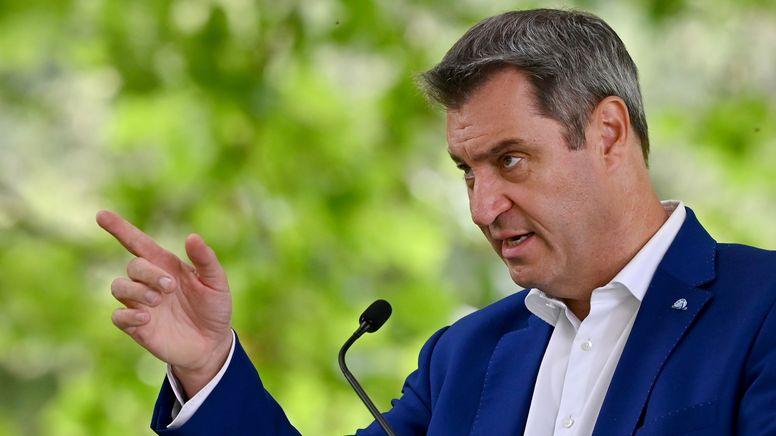 Bayerns Ministerpräsident und CSU-Chef Söder   Bild:pa/dpa/Peter Kneffel