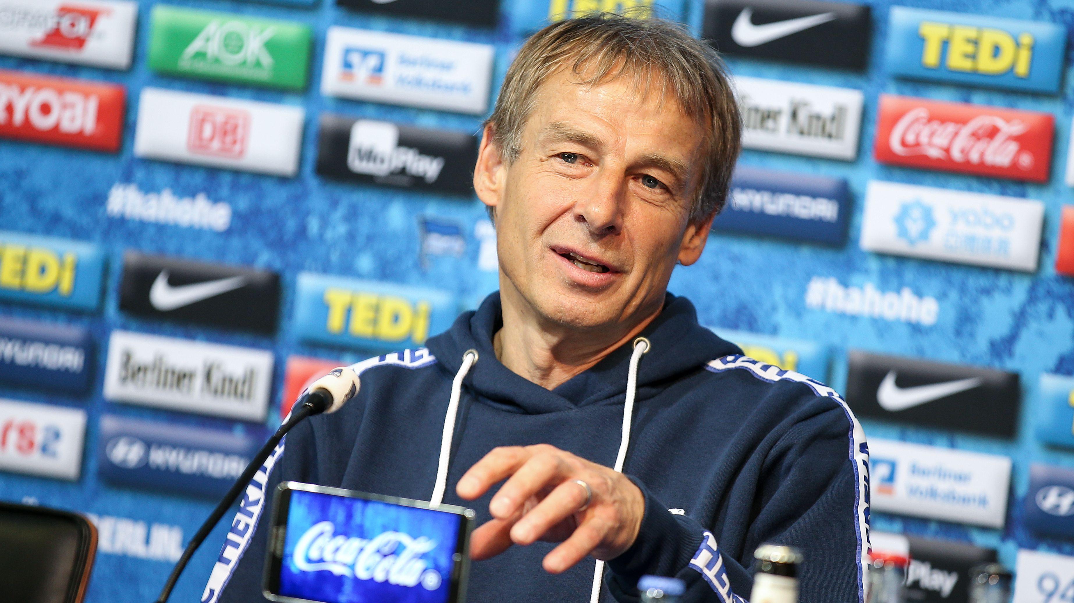 Hertha BSC-Trainer Jürgen Klinsmann