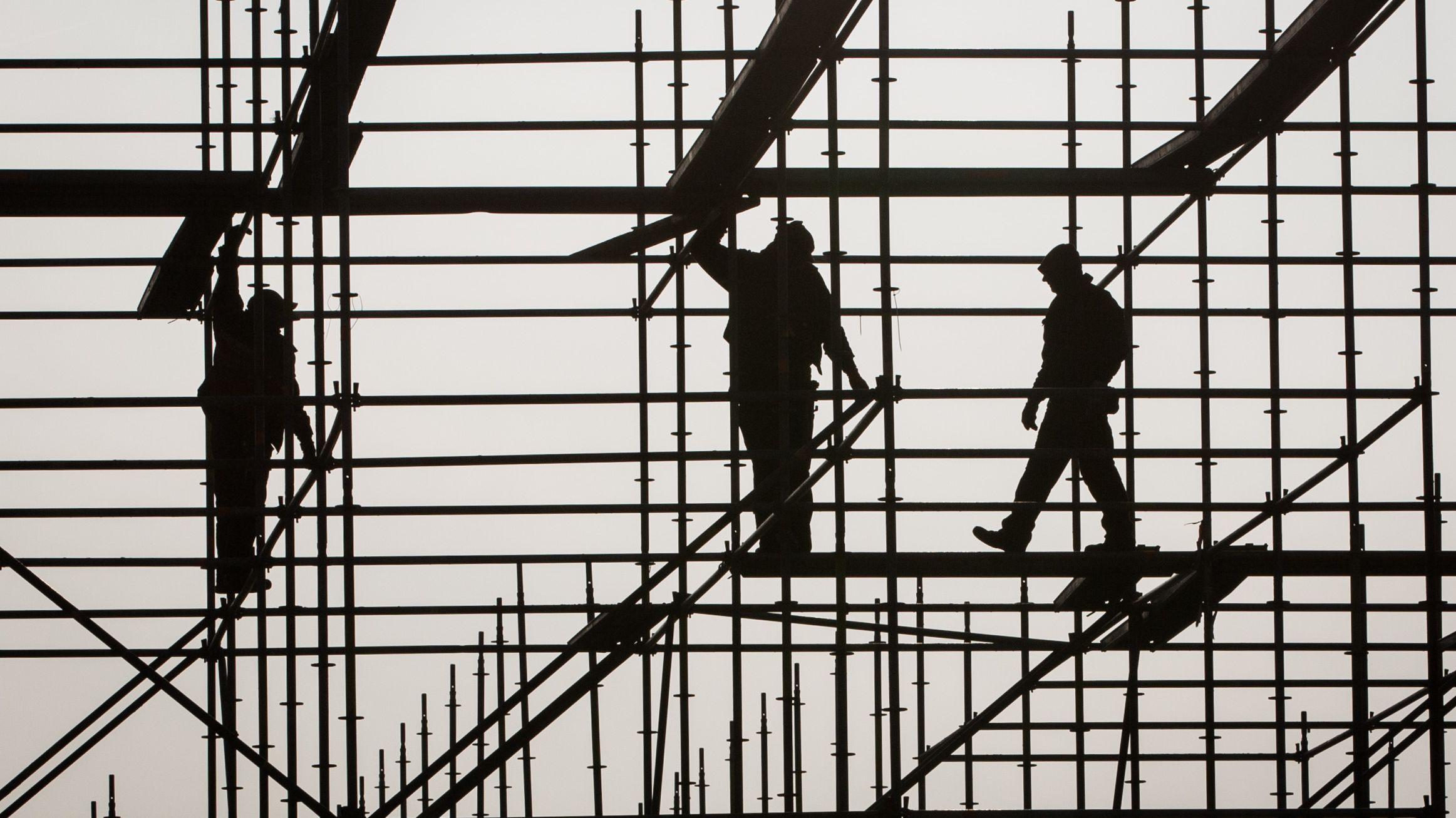 Arbeit auf dem Bau