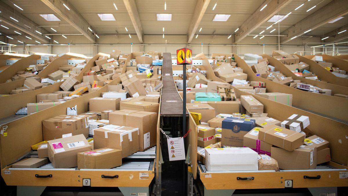 Pakete zur Auslieferung