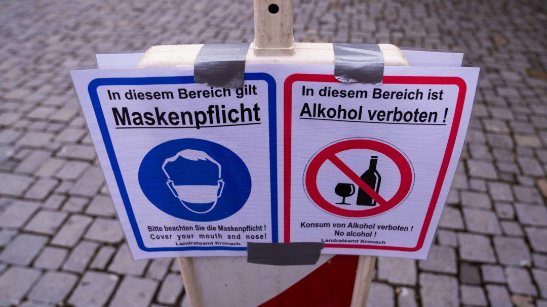 Maskenpflicht und Alkoholverbot: Der Landkreis Kronach hat mit 367 die bayernweit höchste 7-Tage-Inzidenz.