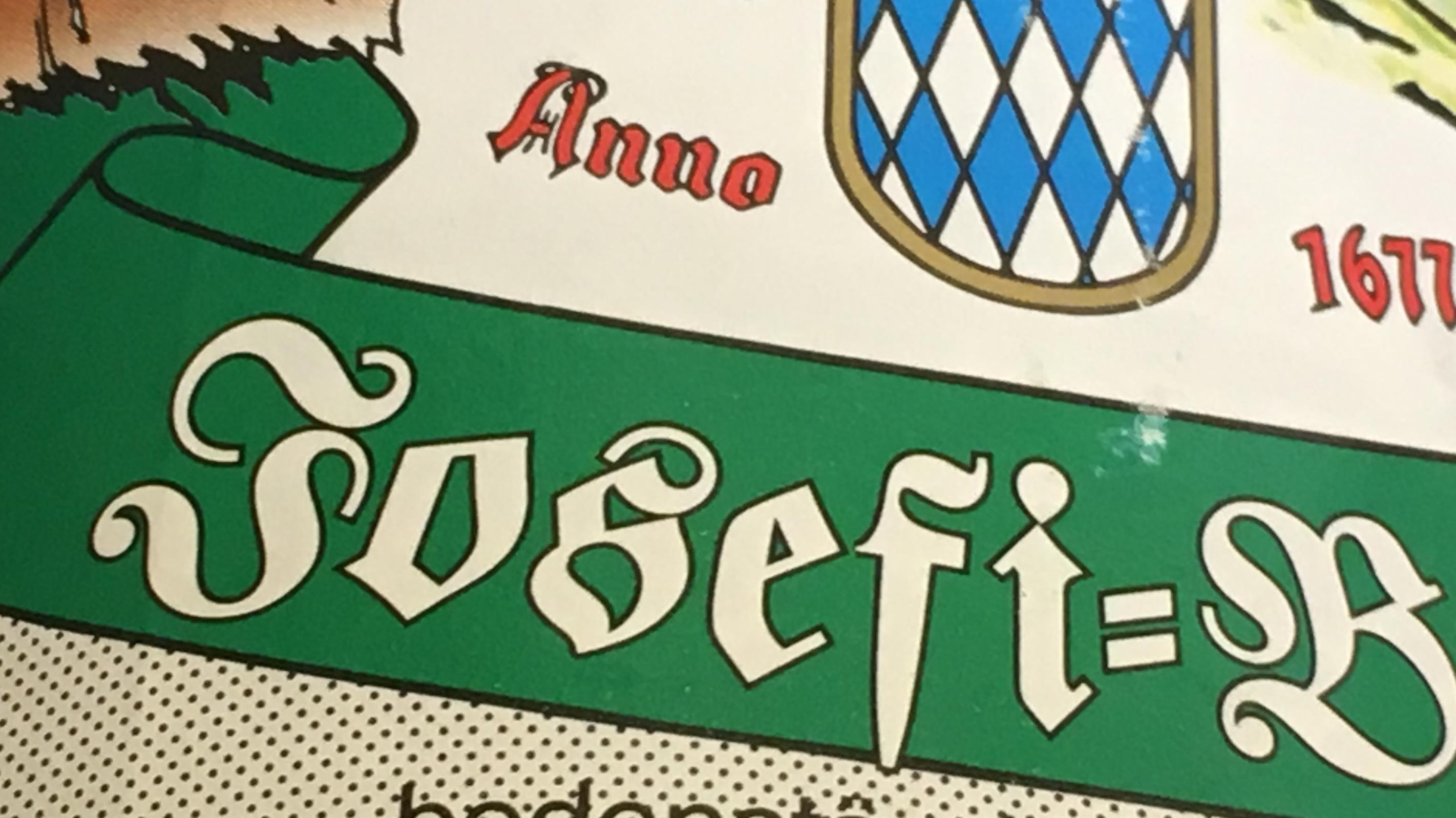 ARCHIV - 17.03.2009, Bayern, Seeg: ILLUSTRATION Das Etikett auf einer Bierflasche, mit einem für die Zeit um den Josefitag gebrauten Bier