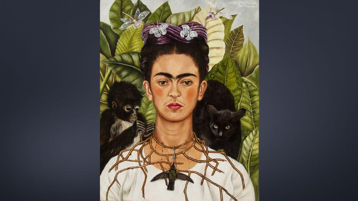 Frida Kahlo, Selbstbildnis mit Dornenhalsband, 1940