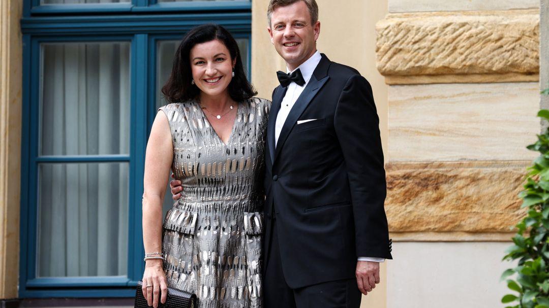 Dorothee Bär (CSU), Beauftragte der Bundesregierung für Digitalisierung, und ihr Mann Oliver Bär (CSU), Landrat des Landkreises Hof.
