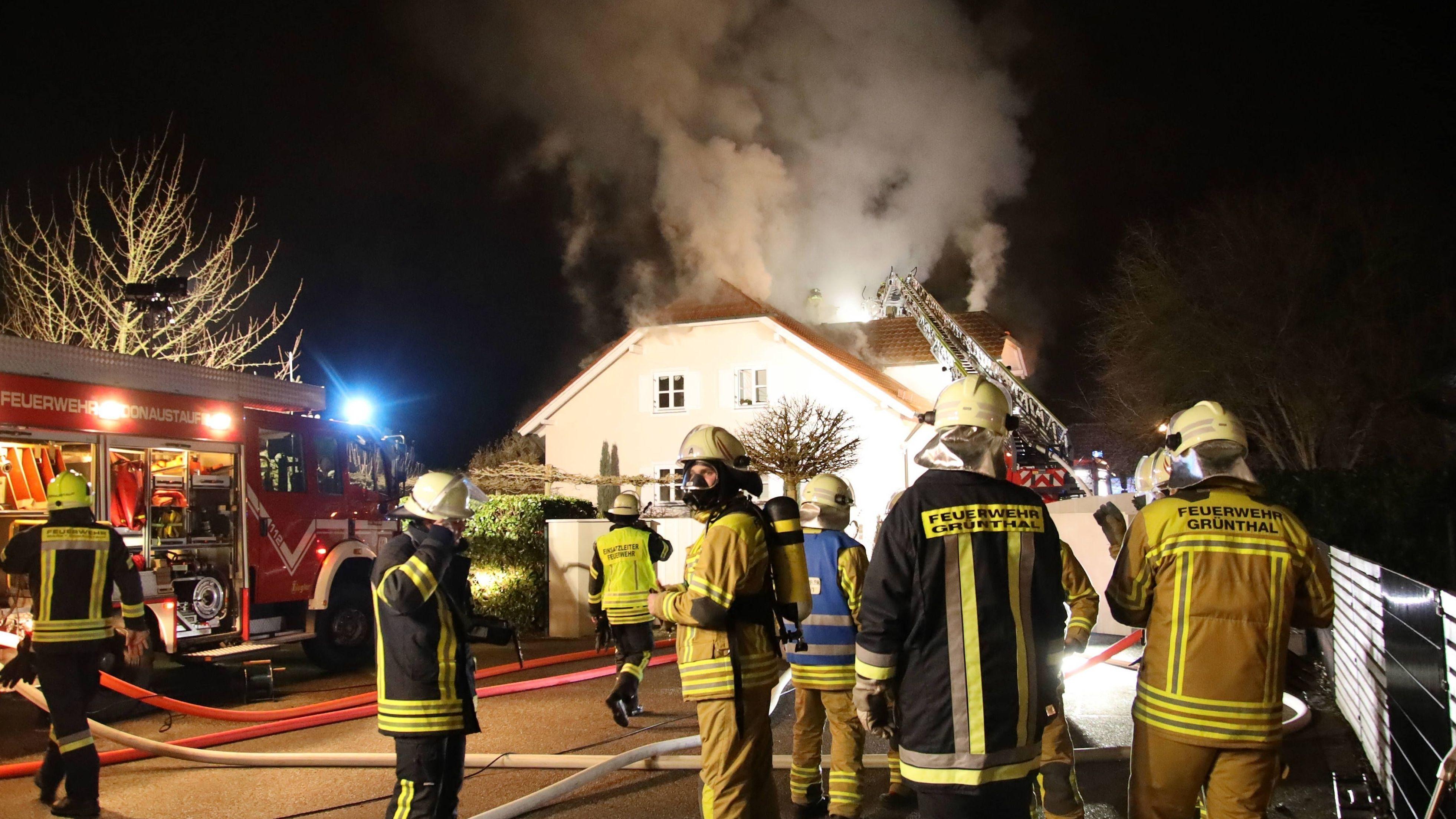 Bei dem Feuer in Tegernheim wurde niemand verletzt.