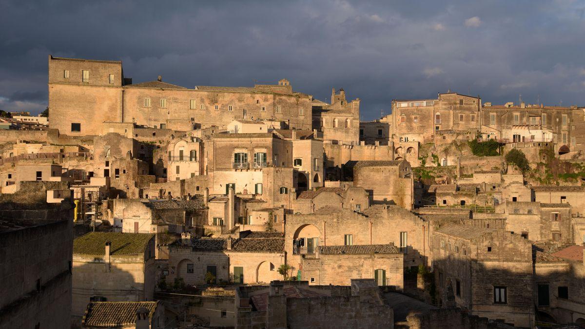 Blick auf die Altstadt von Matera
