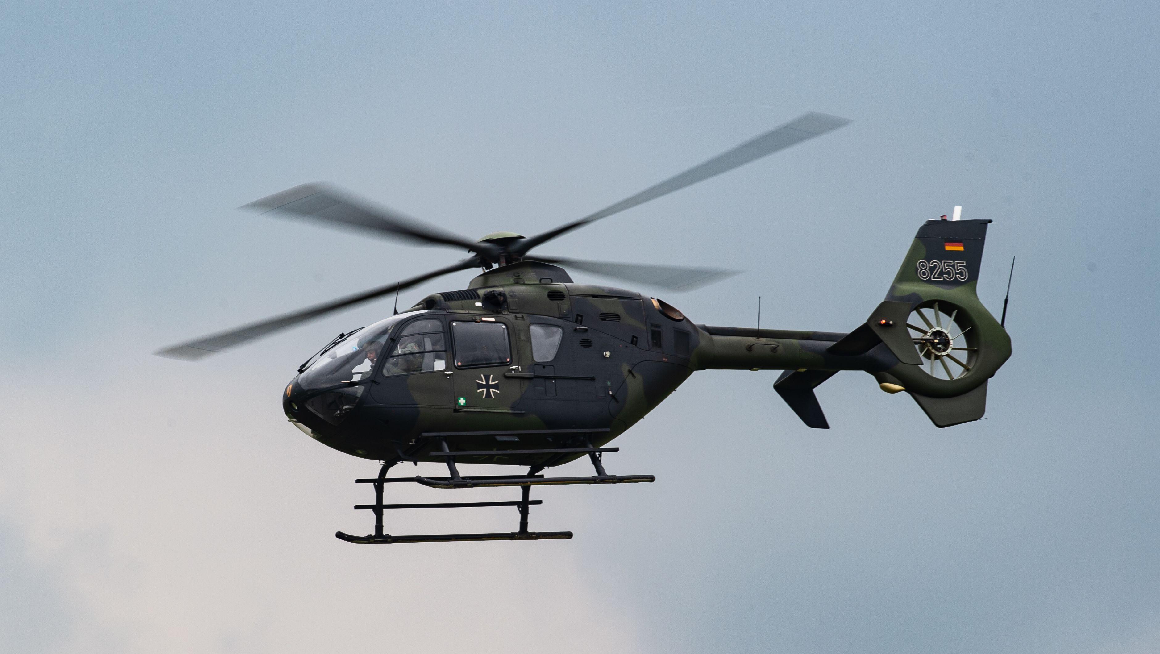 Bundeswehr-Hubschrauber vom Typ EC 135 (Symbolbild)