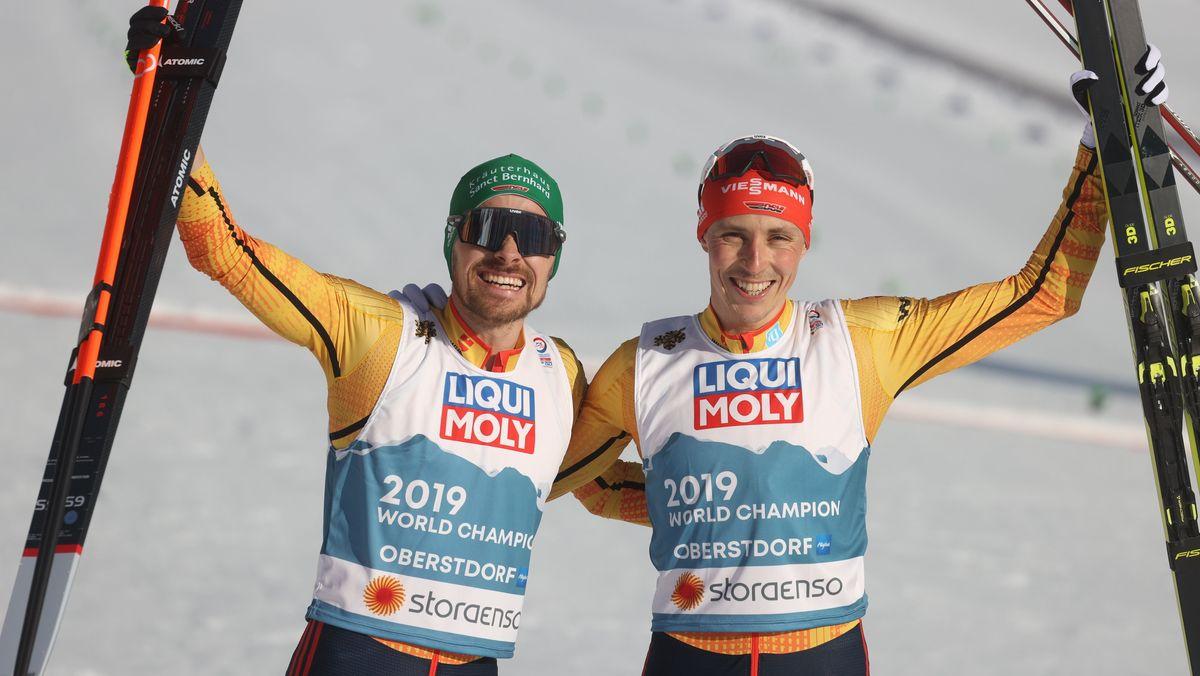 Fabian Rießle (links) und Eric Frenzel