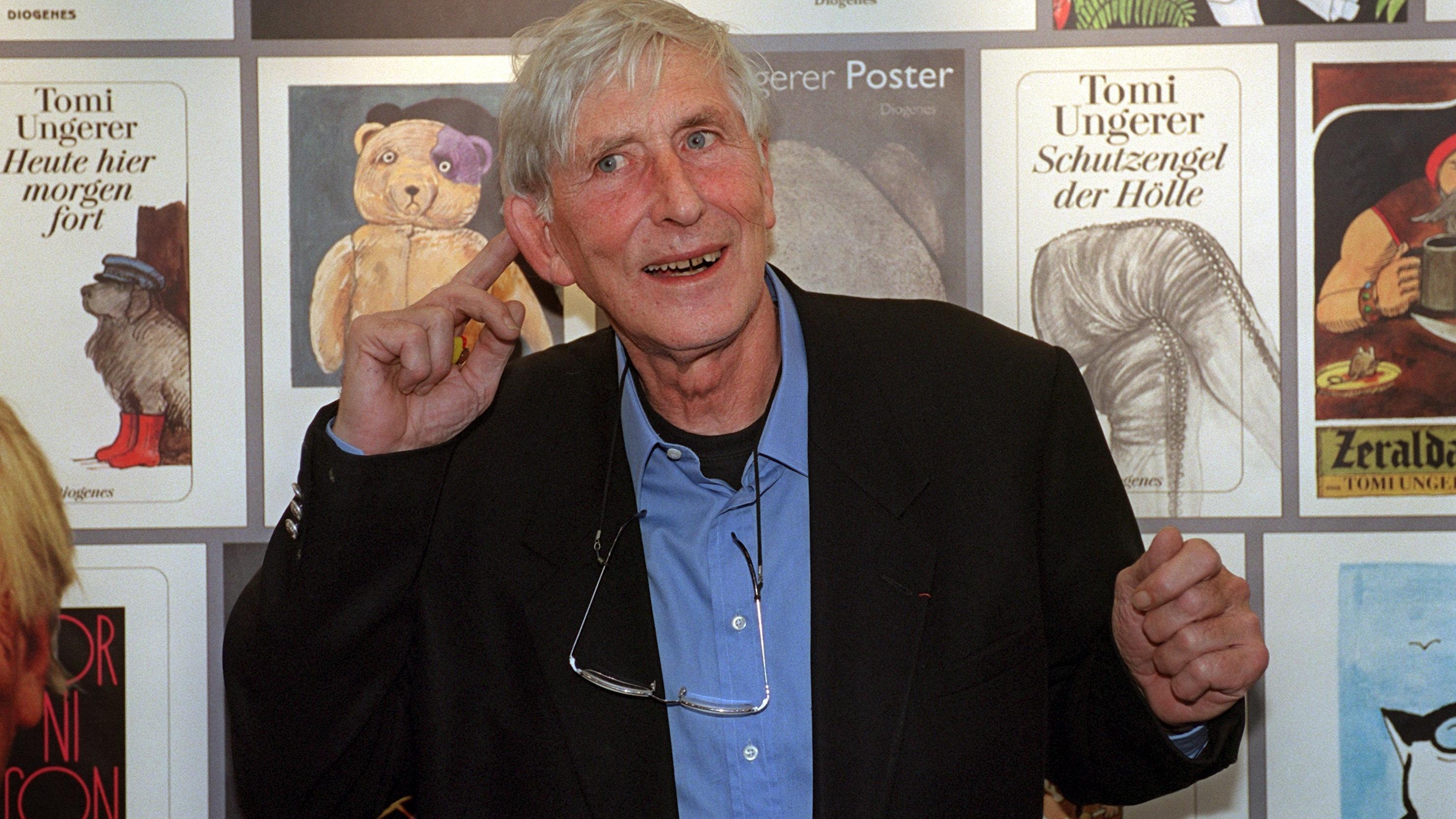 Tomi Ungerer am 11.10.2001 auf der Frankfurter Buchmesse
