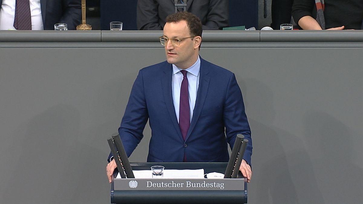 Bundesgesundheitsminister Jens Spahn im Bundestag