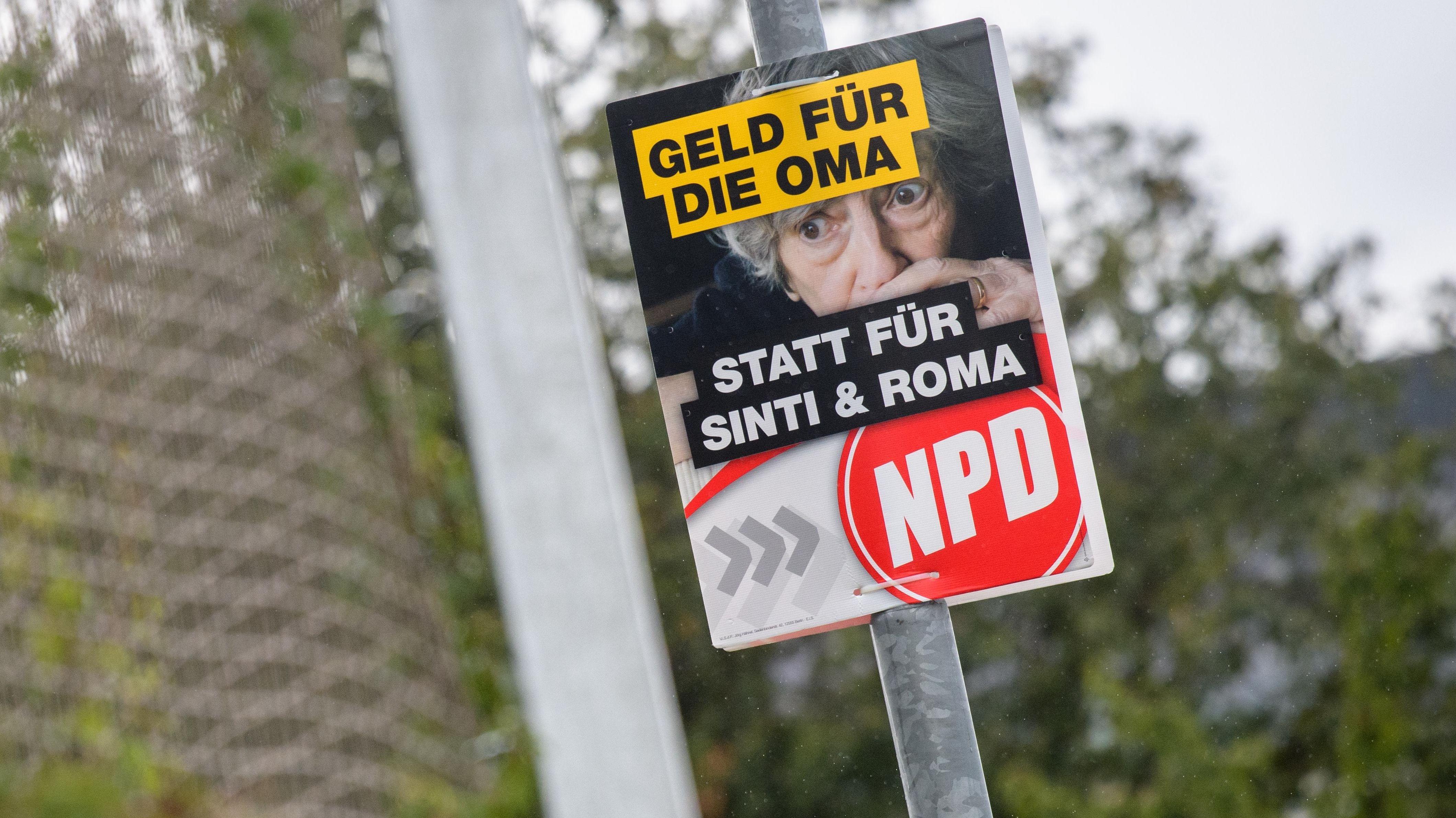 Umstrittenes Wahl-Plakat der NPD