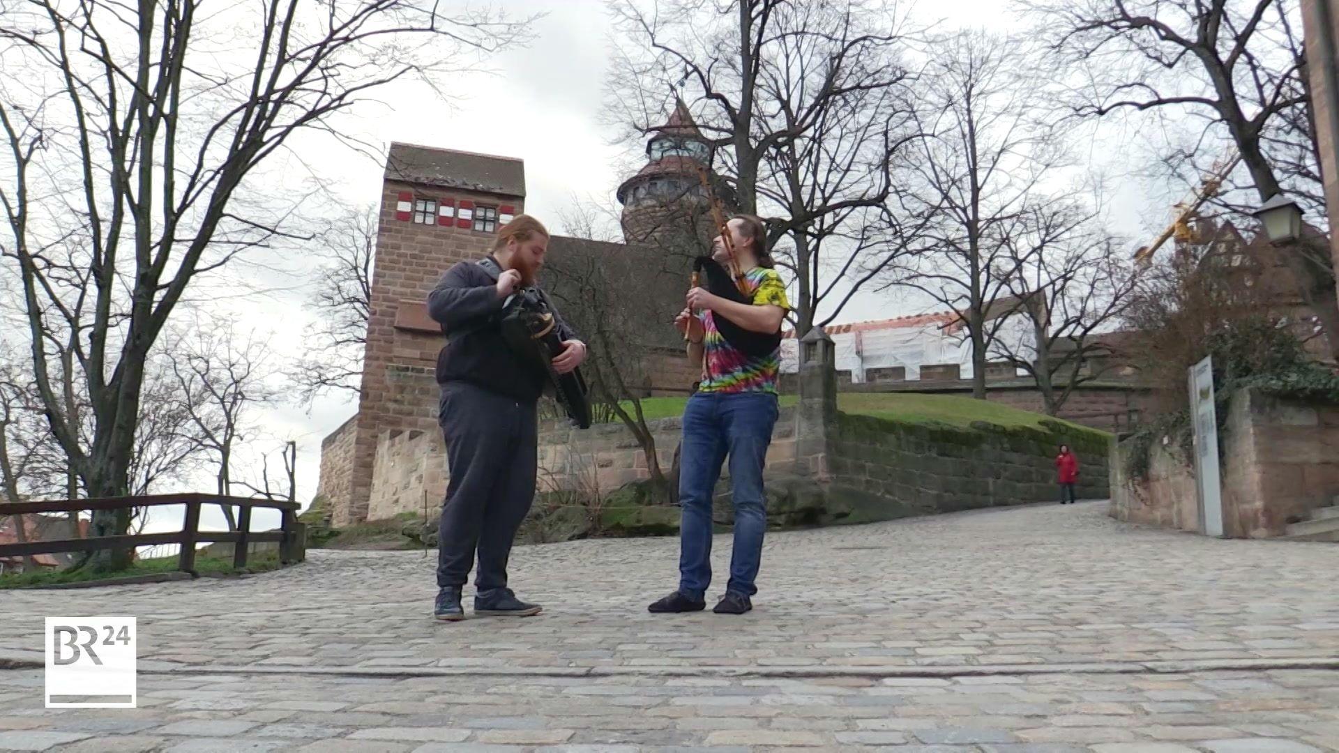 Drehleier und Dudelsack bei den 3. Borduntagen in Nürnberg