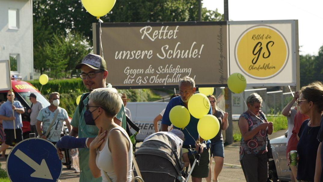 Demonstration für die Schule in Oberfahlheim