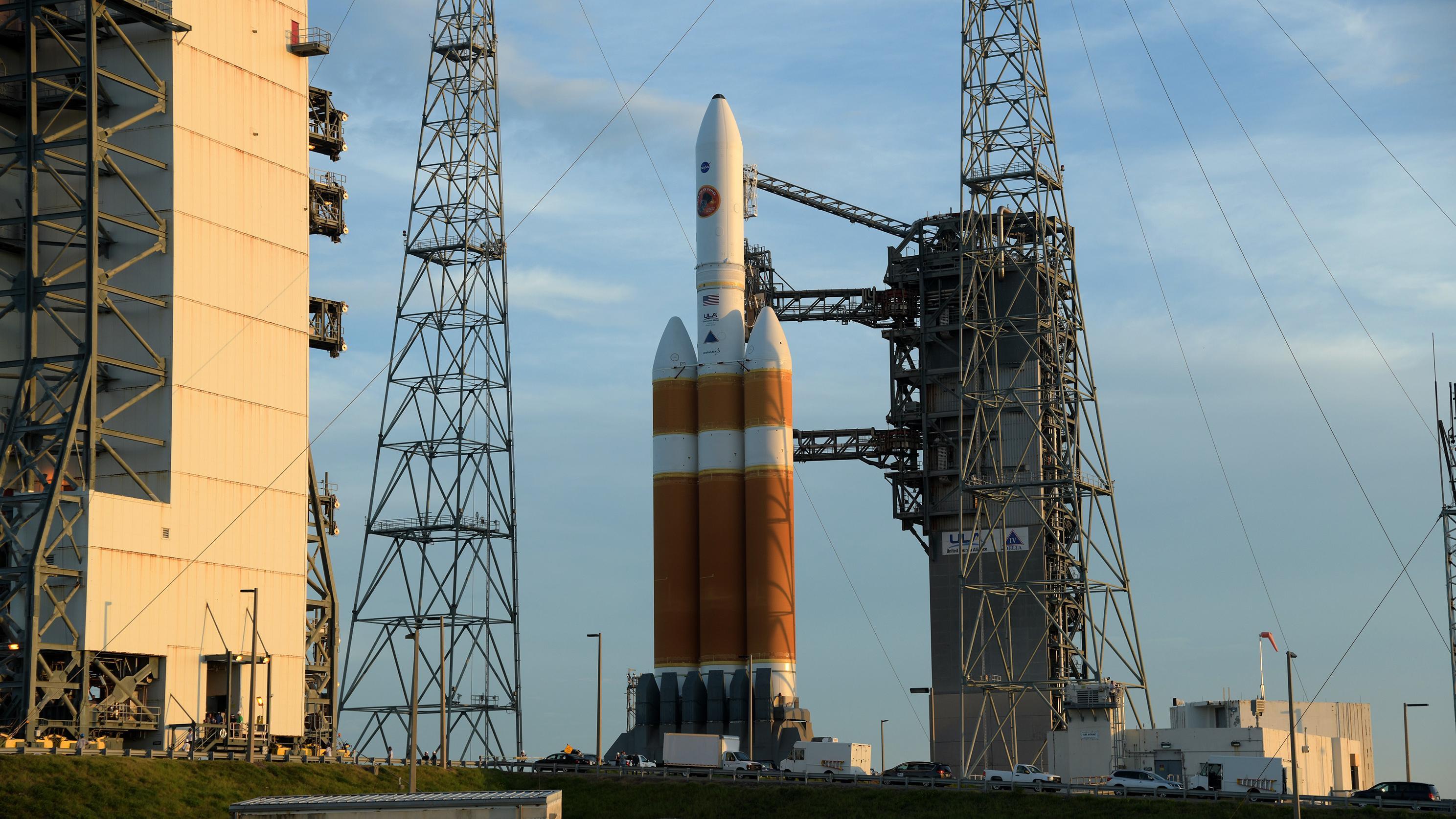 Eine Falcon9-Rakete von SpaceX