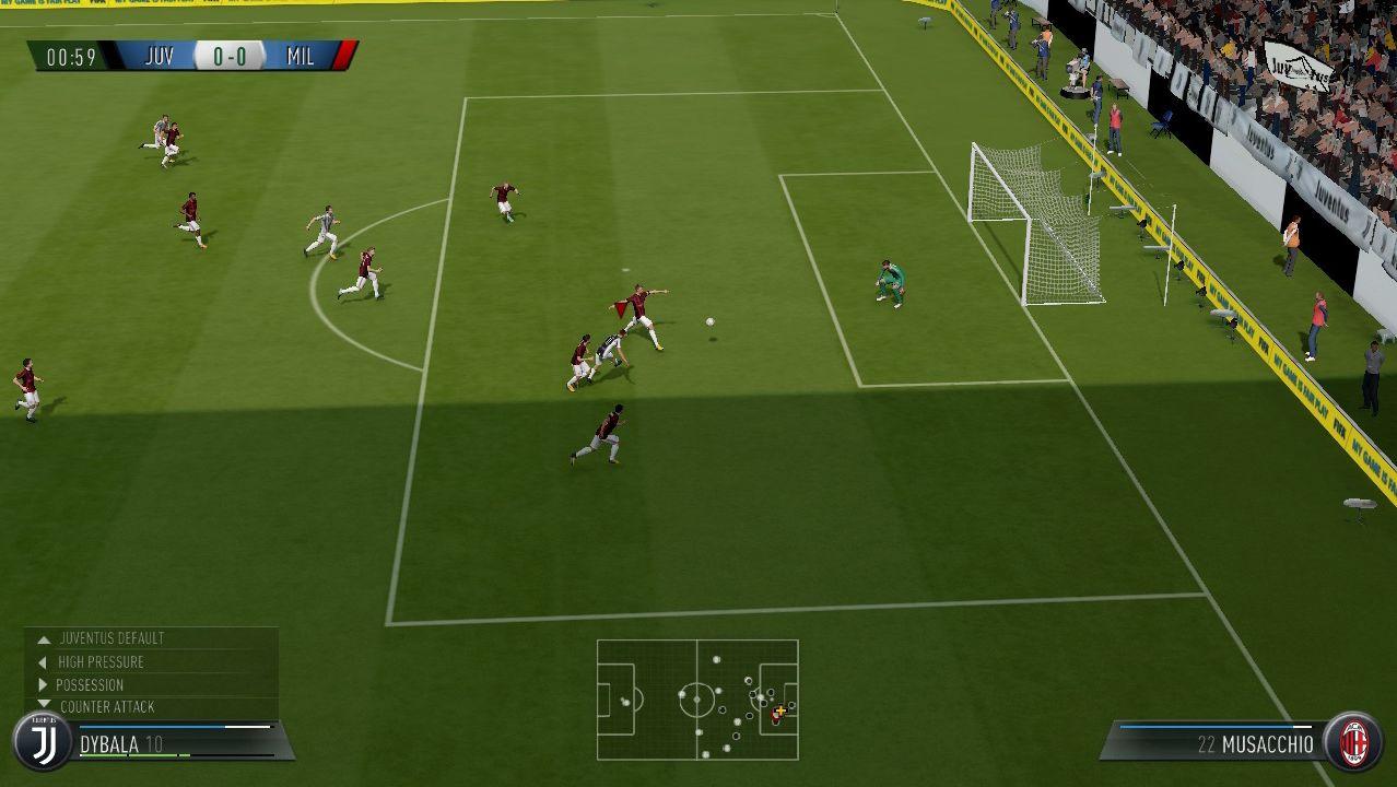 """Spielszene aus dem Spiel """"FIFA 18"""""""