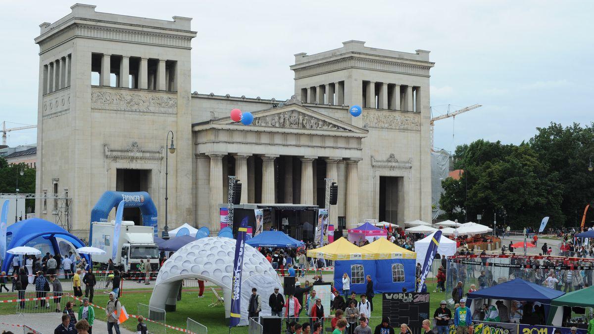 Münchner Sportfestival auf dem Königsplatz