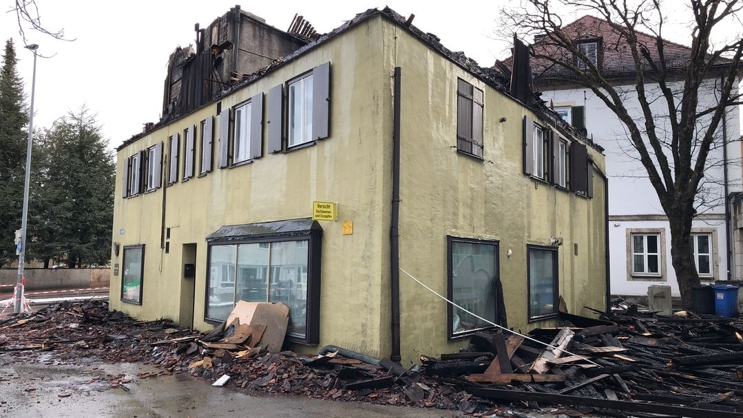 Abgebranntes Färberhaus Kaufbeuren