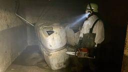 Die Volkacher Feuerwehr hilft nach den Überschwemmungen in Altenahr unter schwierigen Bedingungen. | Bild:Feuerwehr Volkach