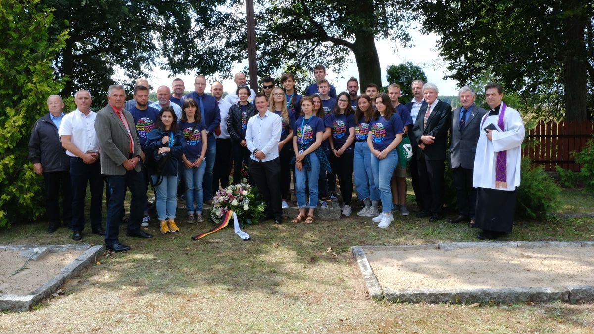 Gedenkfeier Kriegsgräberstätte Wielbark