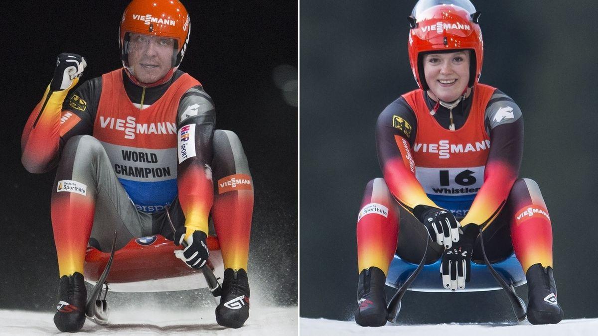 Felix Loch und Anna Berreiter vom RC Berchtesgaden