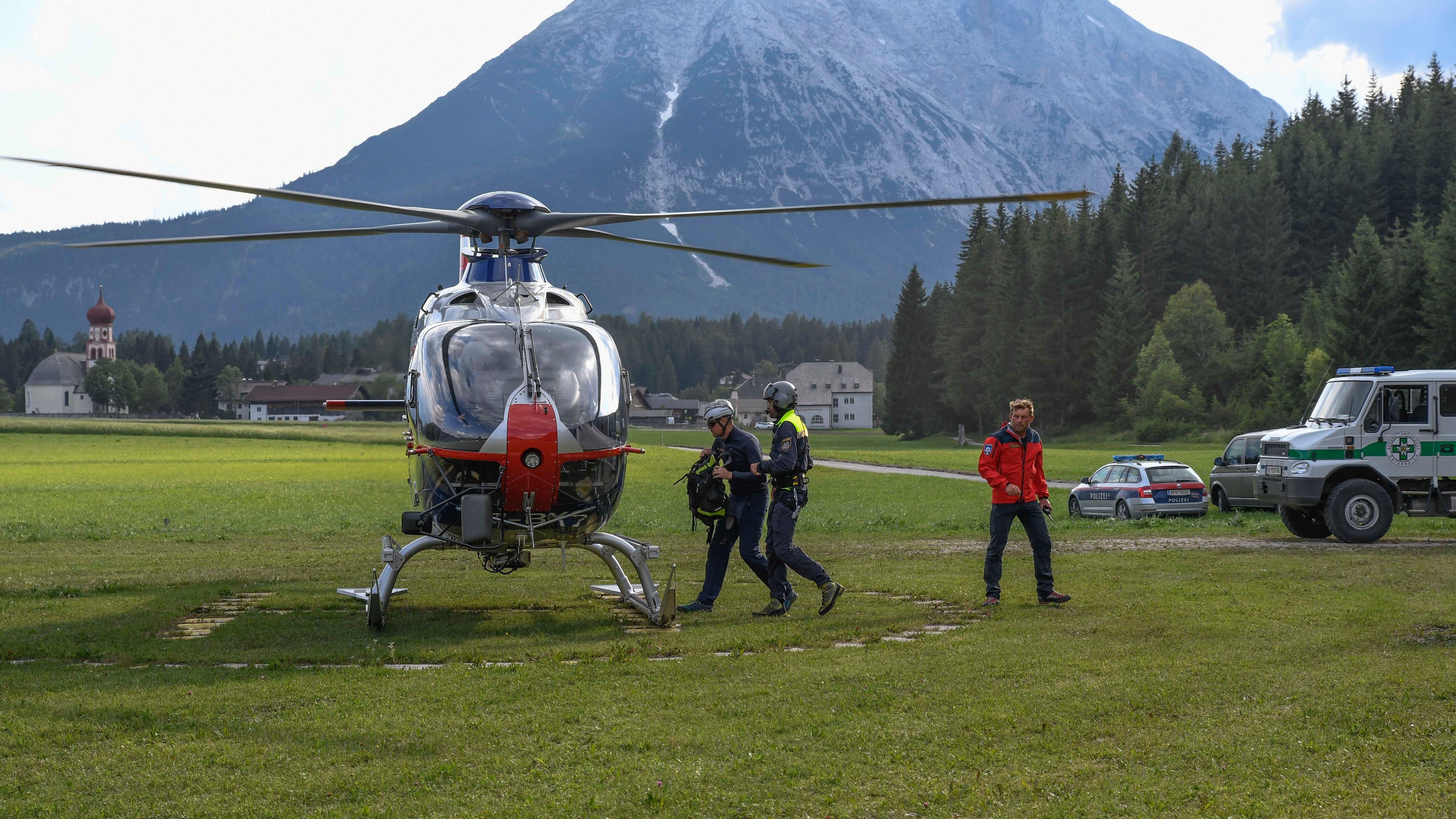 Absturz eines Klein-Flugzeugs im Wettersteingebirge