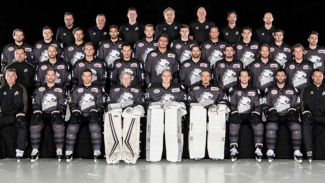 Mannschaftsfoto Nürnberg Ice Tigers