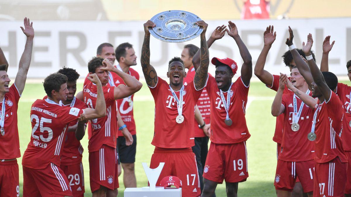 Der FC Bayern bejubelt seine Meisterschaft