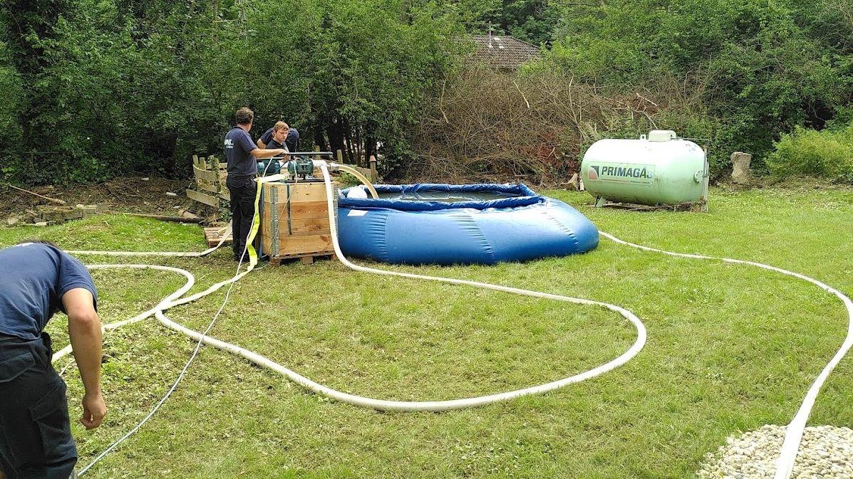 Beim Installieren der Trinkwasseraufbereitungsanlage
