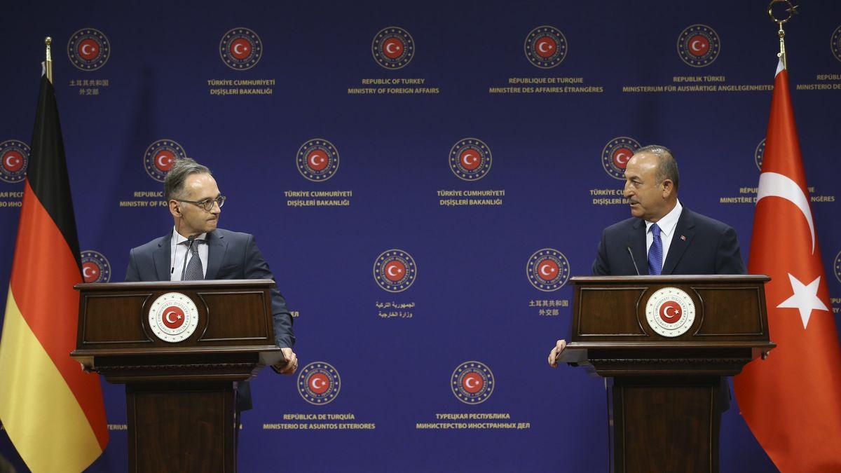 Bundesaußenminister Heiko Maas und der türkische Präsident Erdogan