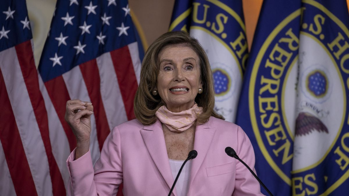 Nancy Pelosi am 24. August bei einer Pressekonferenz.