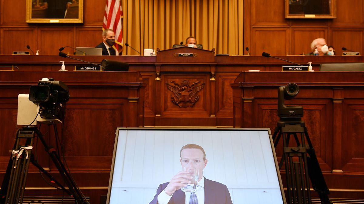 Mark Zuckerberg diesen Sommer bei einer virtuellen Anhörung im US-Kongress