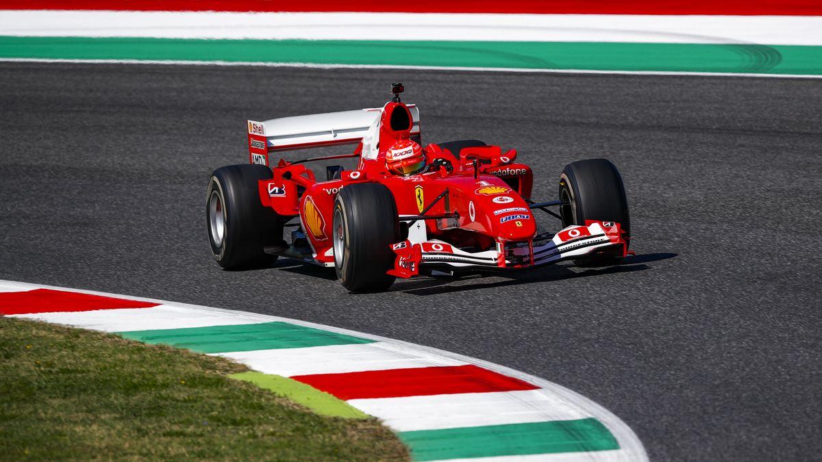 Mick Schumacher in einem 2004er-Ferrari