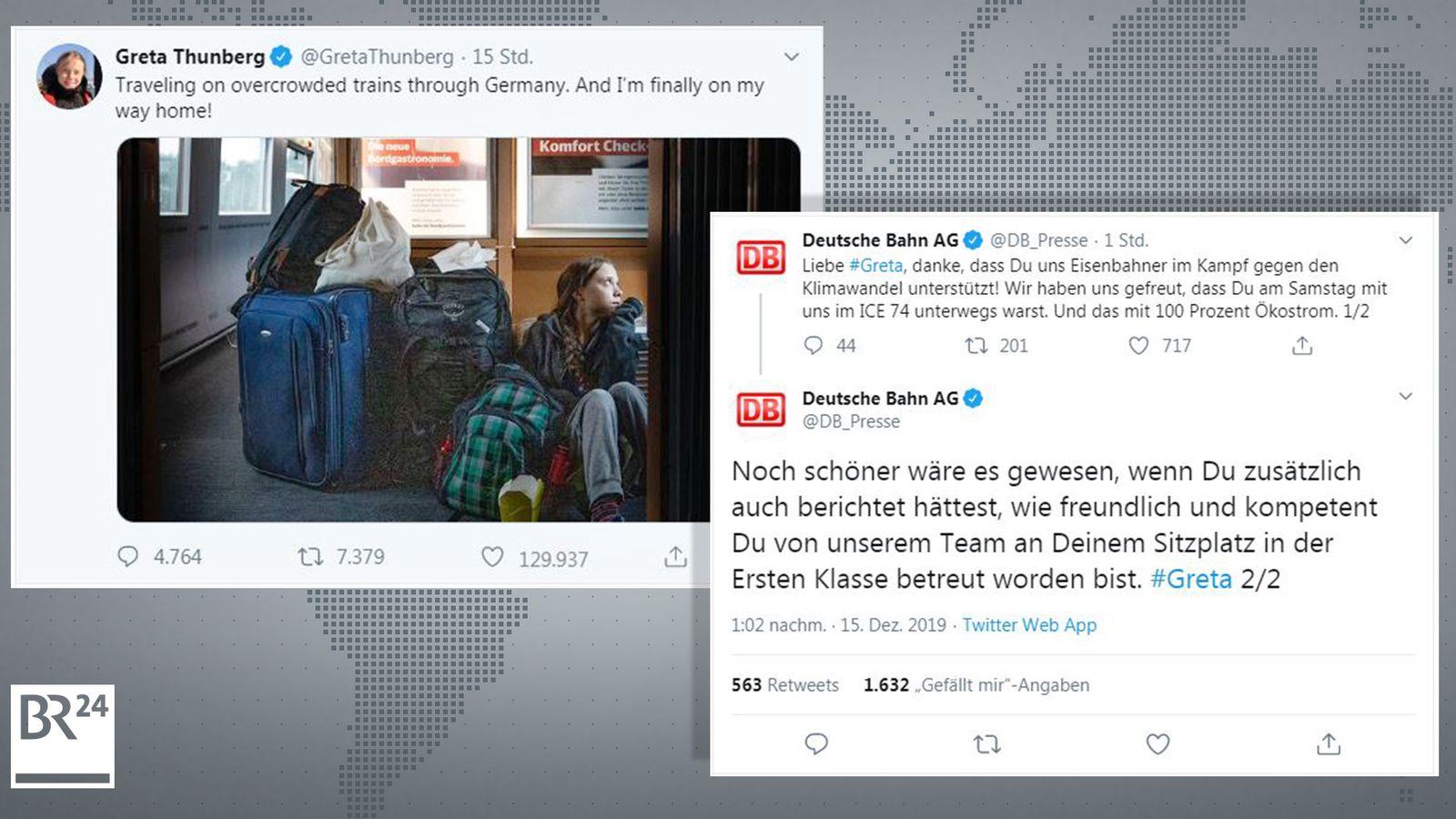 """""""In Erster Klasse betreut"""": Bahn stichelt gegen Greta"""