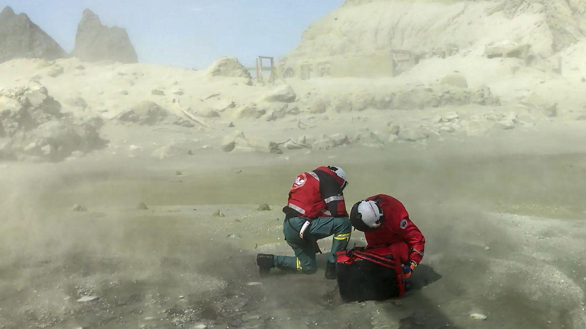 Rettungseinsatz auf White Island nach Vulkanausbruch