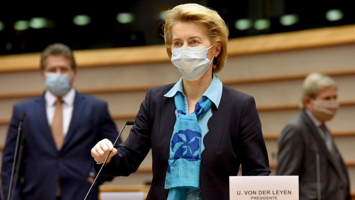 EU-Kommissionspräsidentin Ursula von der Leyen im Europaparlament in Brüssel.
