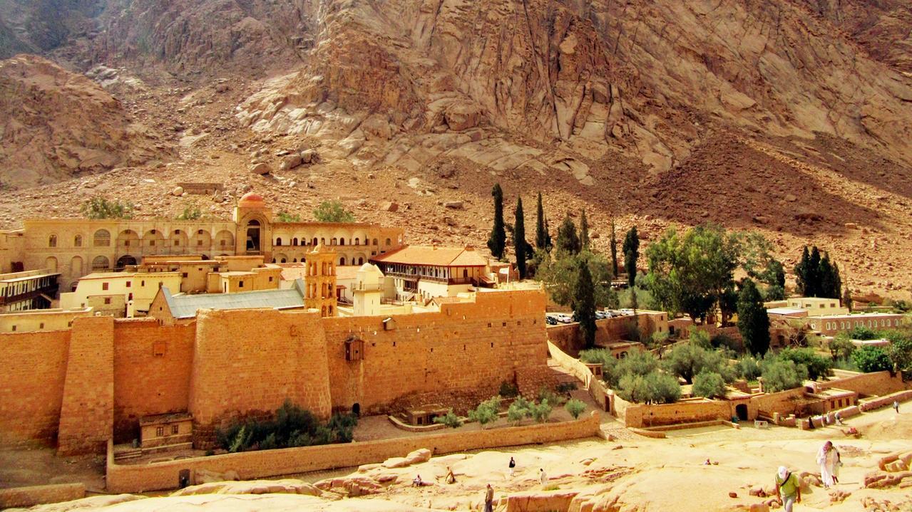 Das Katharinen-Kloster am Fuß des Bergs Sinai