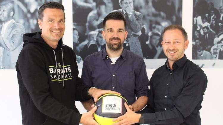 Trainer Raoul Korner, sportlicher Leiter Matthias Haufer und Geschäftsführer Björn Albrecht
