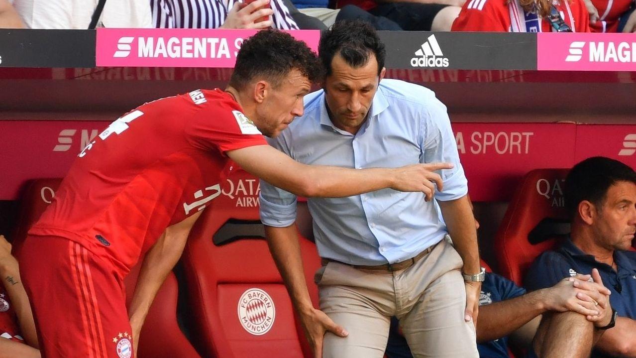FC-Bayern-Neuzugnag Ivan Perisic und Sportdirektor Hasan Salihamidzic