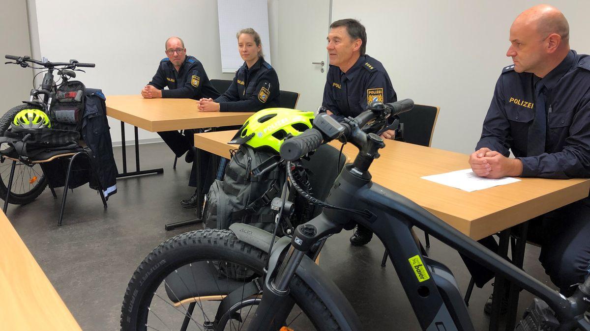 Die Polizei berichtete über den Einsatz von Fahrradstreifen
