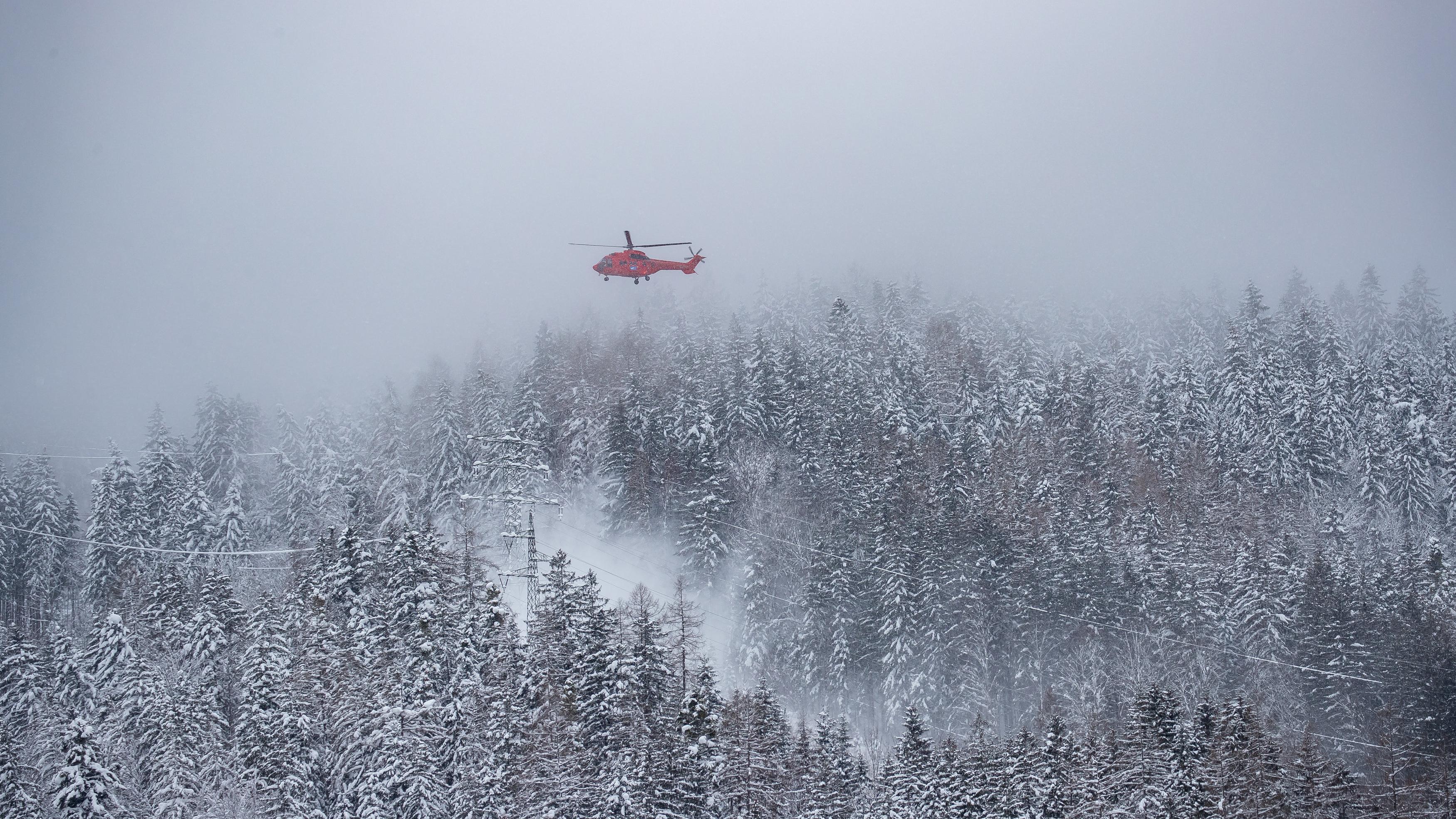 Hubschrauber in Landl