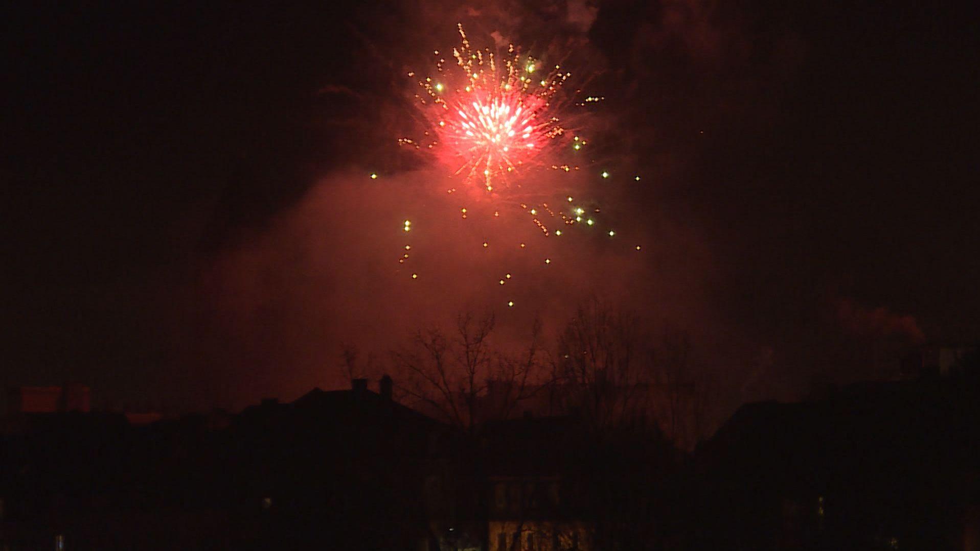Feuerwerk an der Maxbrücke in Schweinfurt