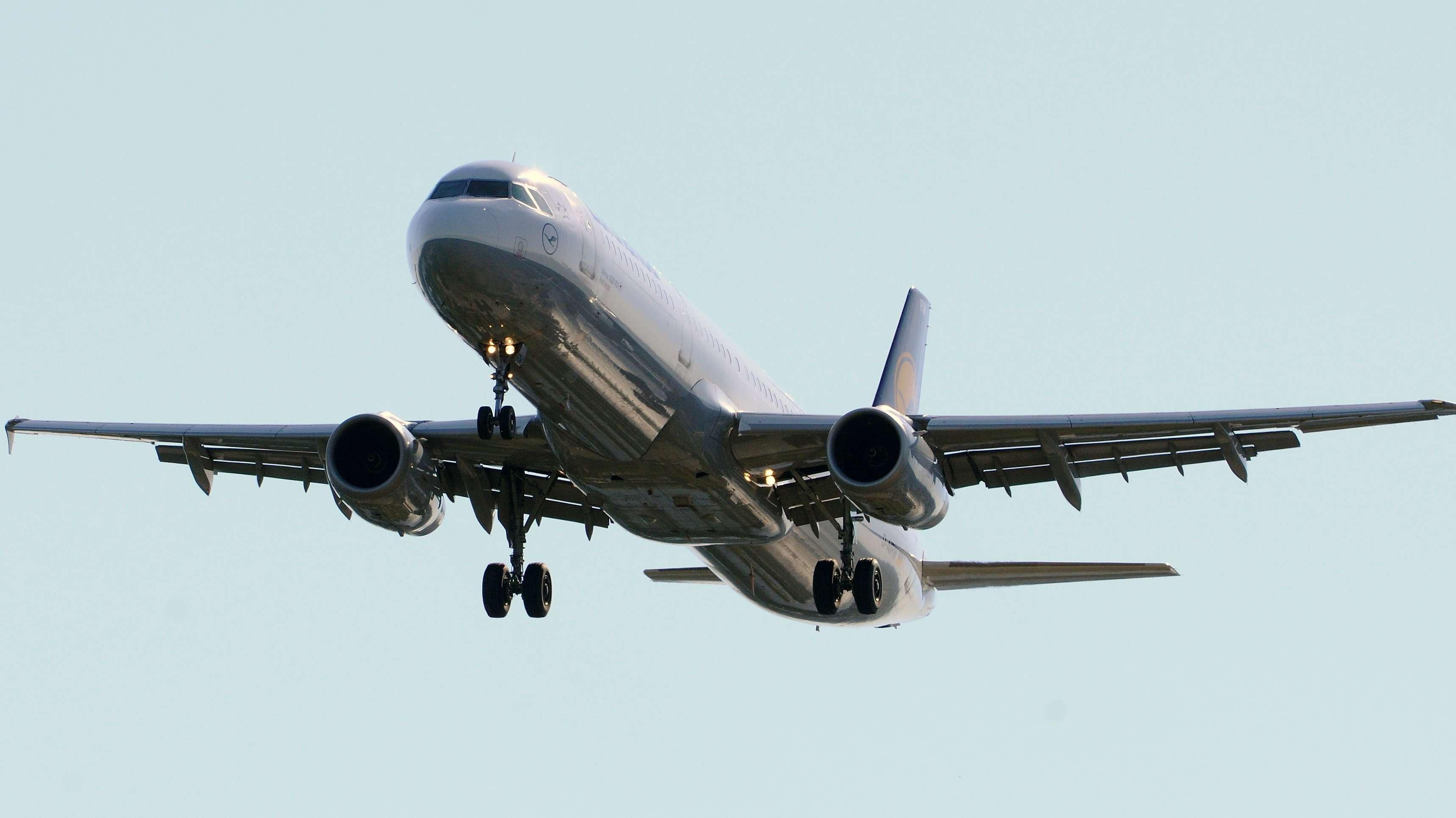Ein Airbus A 321 im Landeanflug