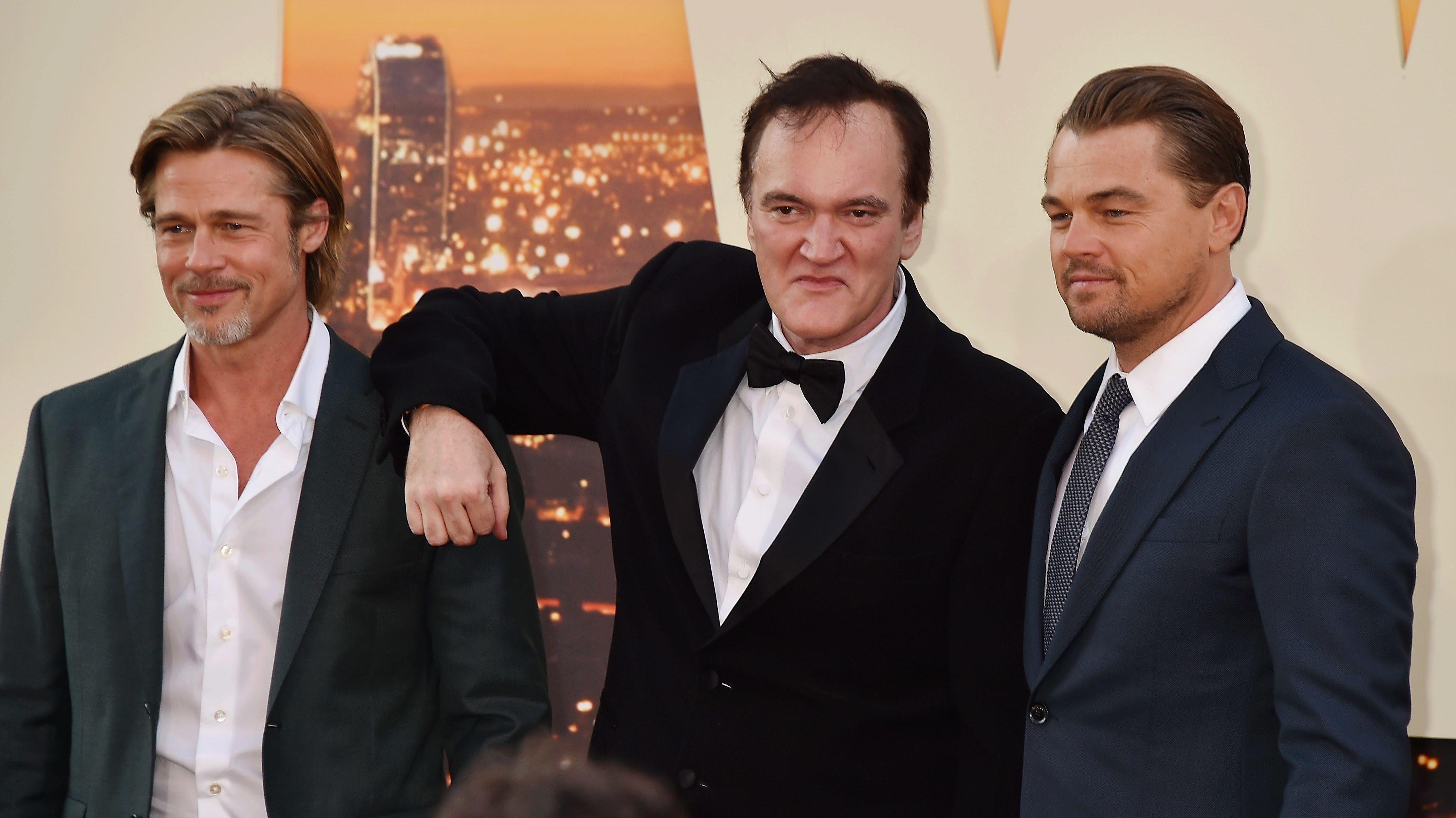 Brad Pitt, Quentin Tarantino und Leonardo DiCaprio
