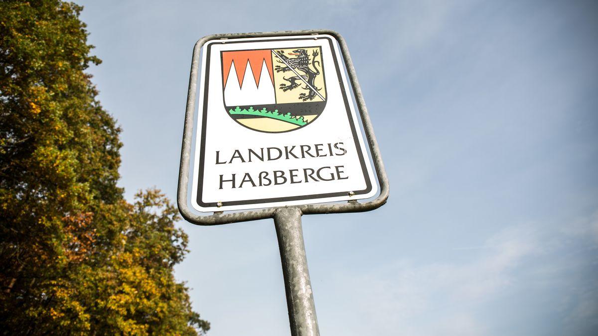Straßenschild: Landkreis Haßberge