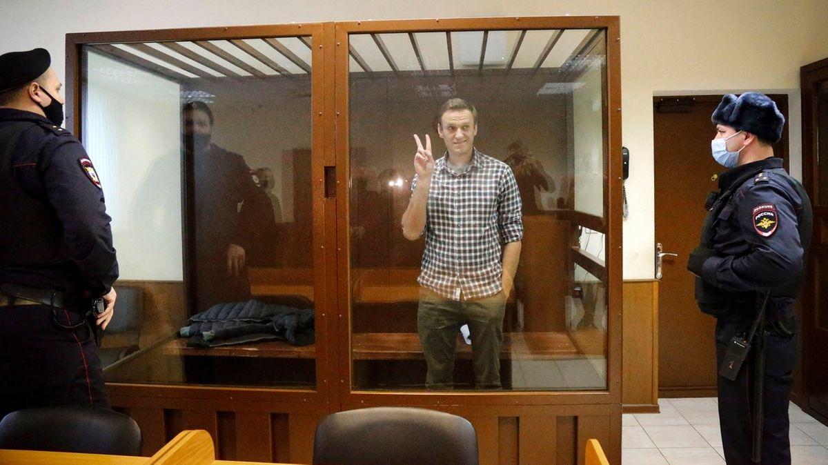 Gerichtsprozess gegen Kremlkritiker Nawalny.