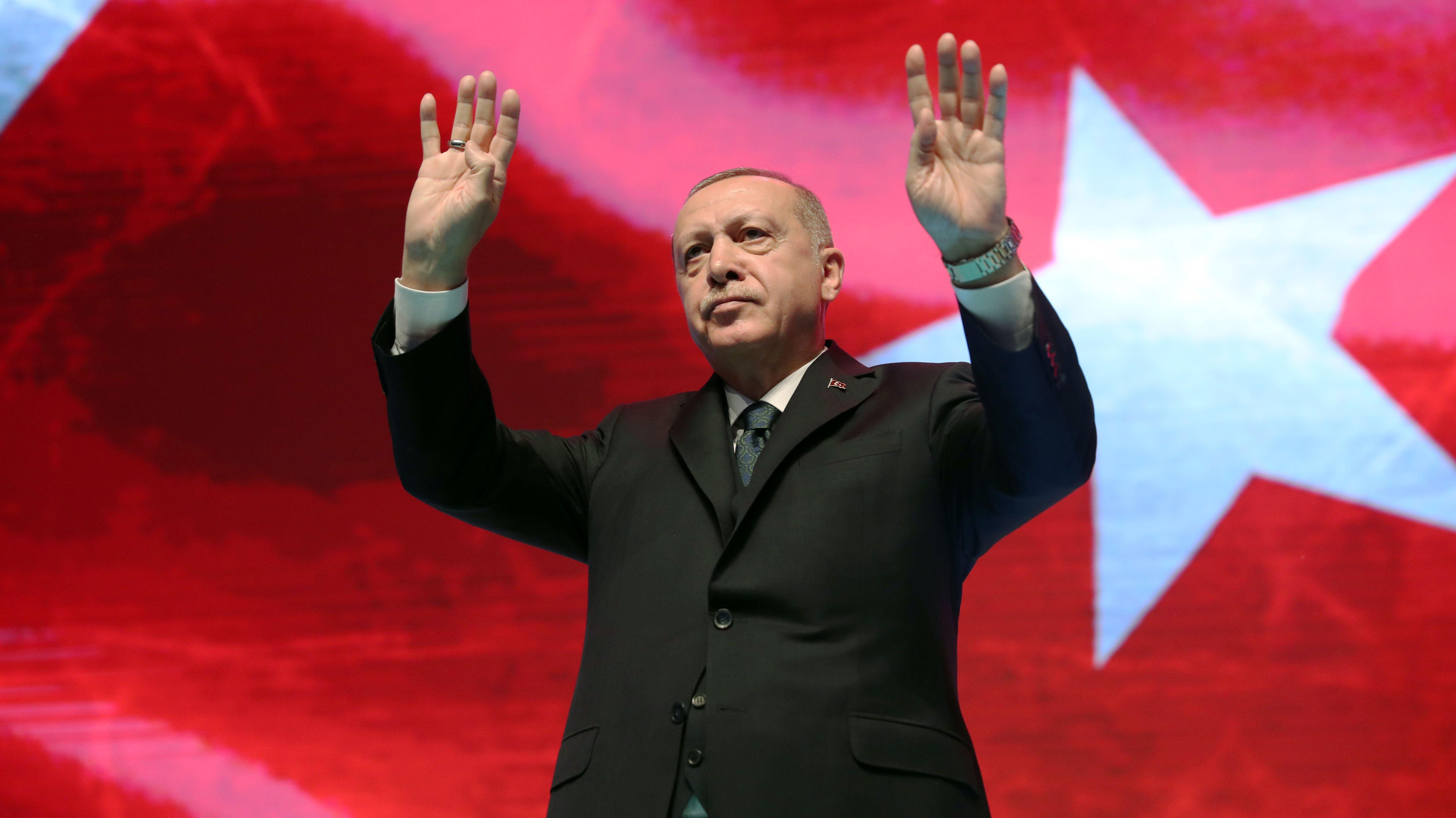 Recep Tayyip Erdogan in Ankara am 02.03.2020.