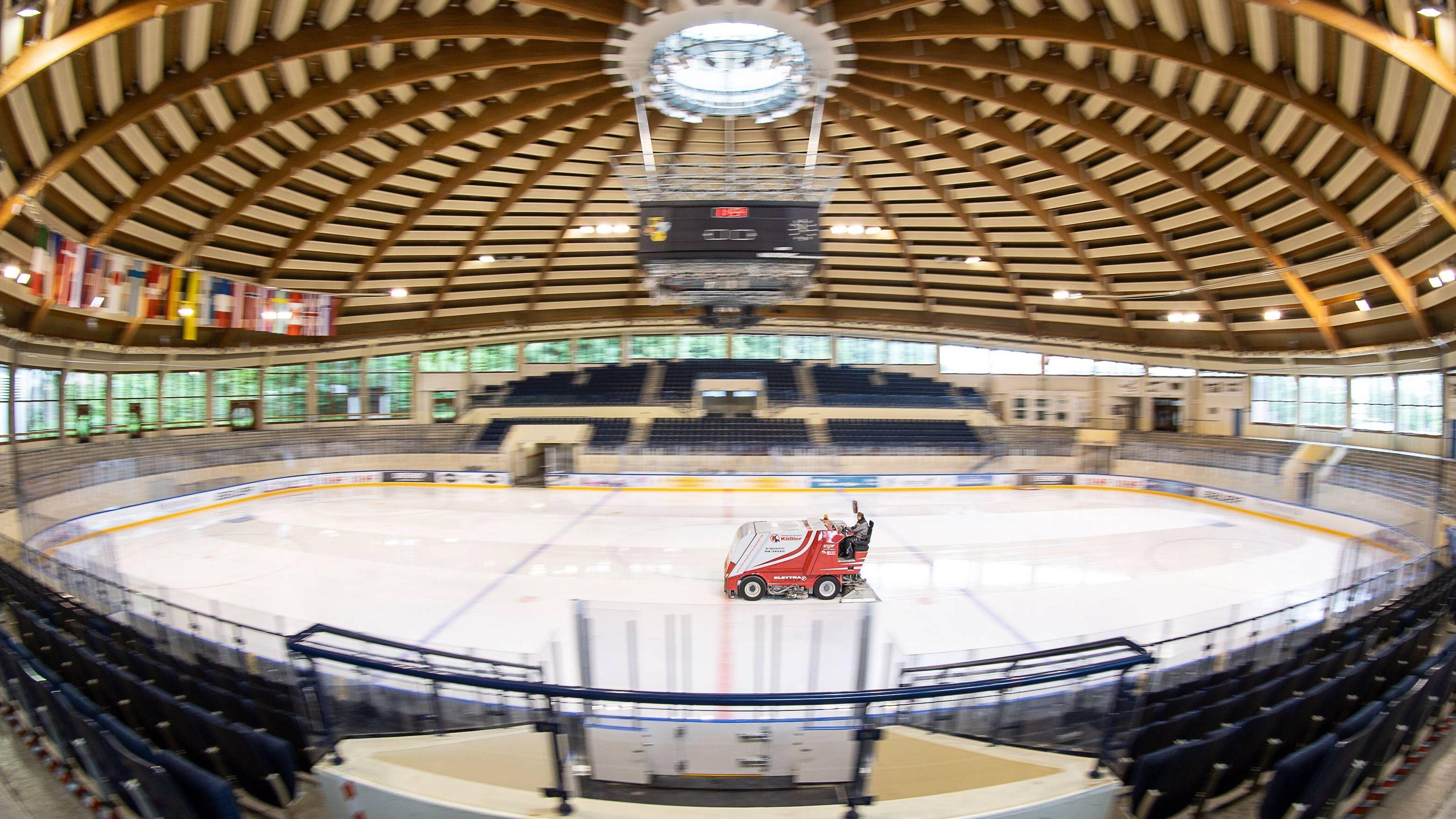 Blick in das Eishockey-Bundesleistungszentrum in Füssen