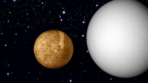 Die beiden innersten Planeten Venus und Merkur stehen manchmal am Morgen- oder Abendhimmel nah beieinander.