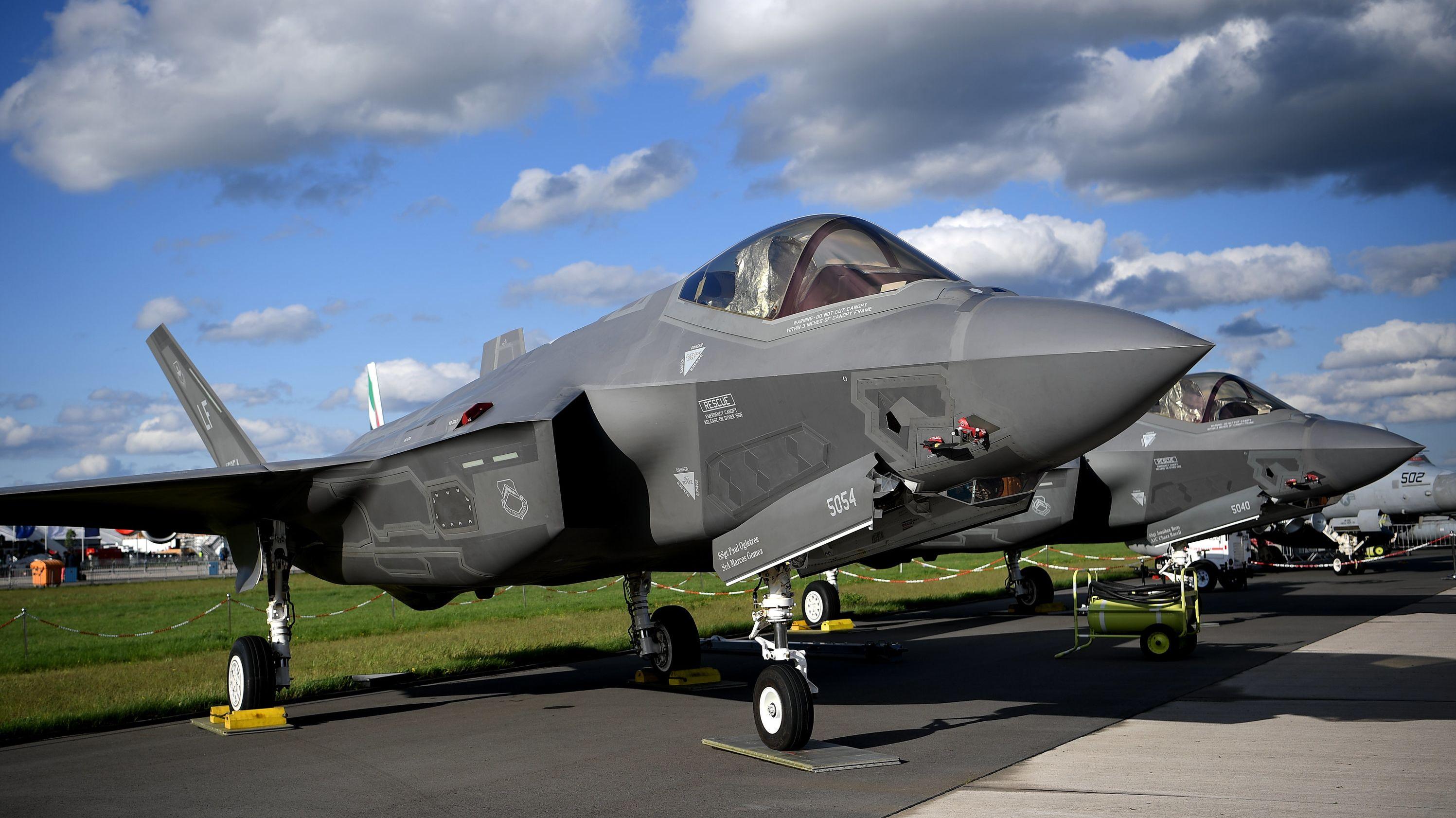 Ein Lockheed Martin F-35 Tarnkappenjet aus den USA