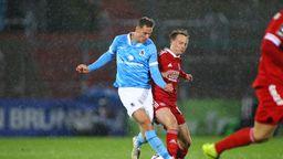 Spielszene SpVgg Unterhaching - TSV 1860 München   Bild:picture-alliance/dpa